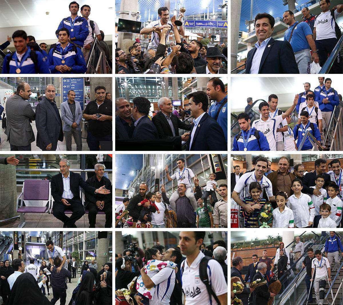 بازگشت ملی پوشان فوتسال از جام جهانی کلمبیا