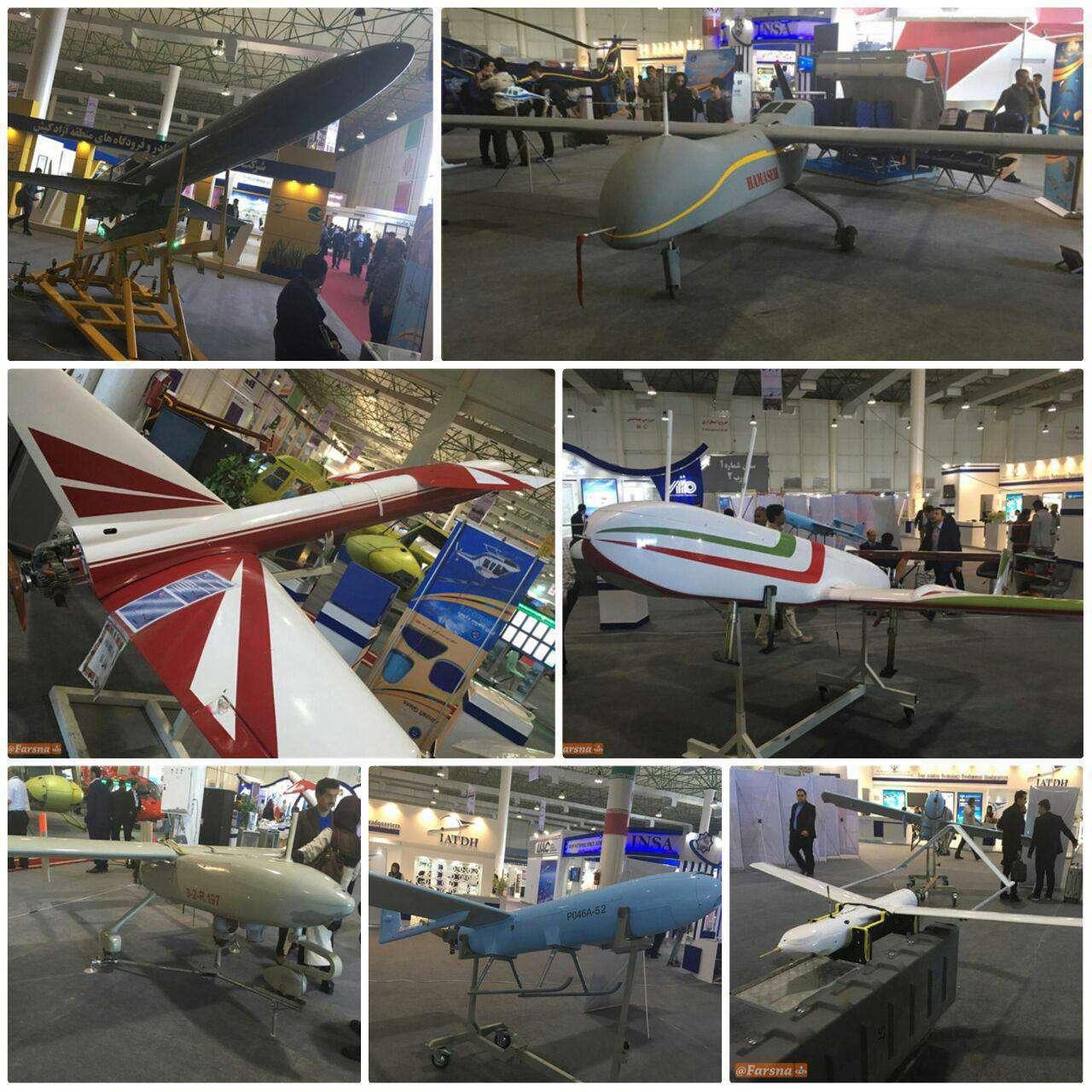 ۸ پهپاد ایرانی در  نمایشگاه بینالمللی هوایی ایران در کیش به نمایش عمومی گذاشته شد