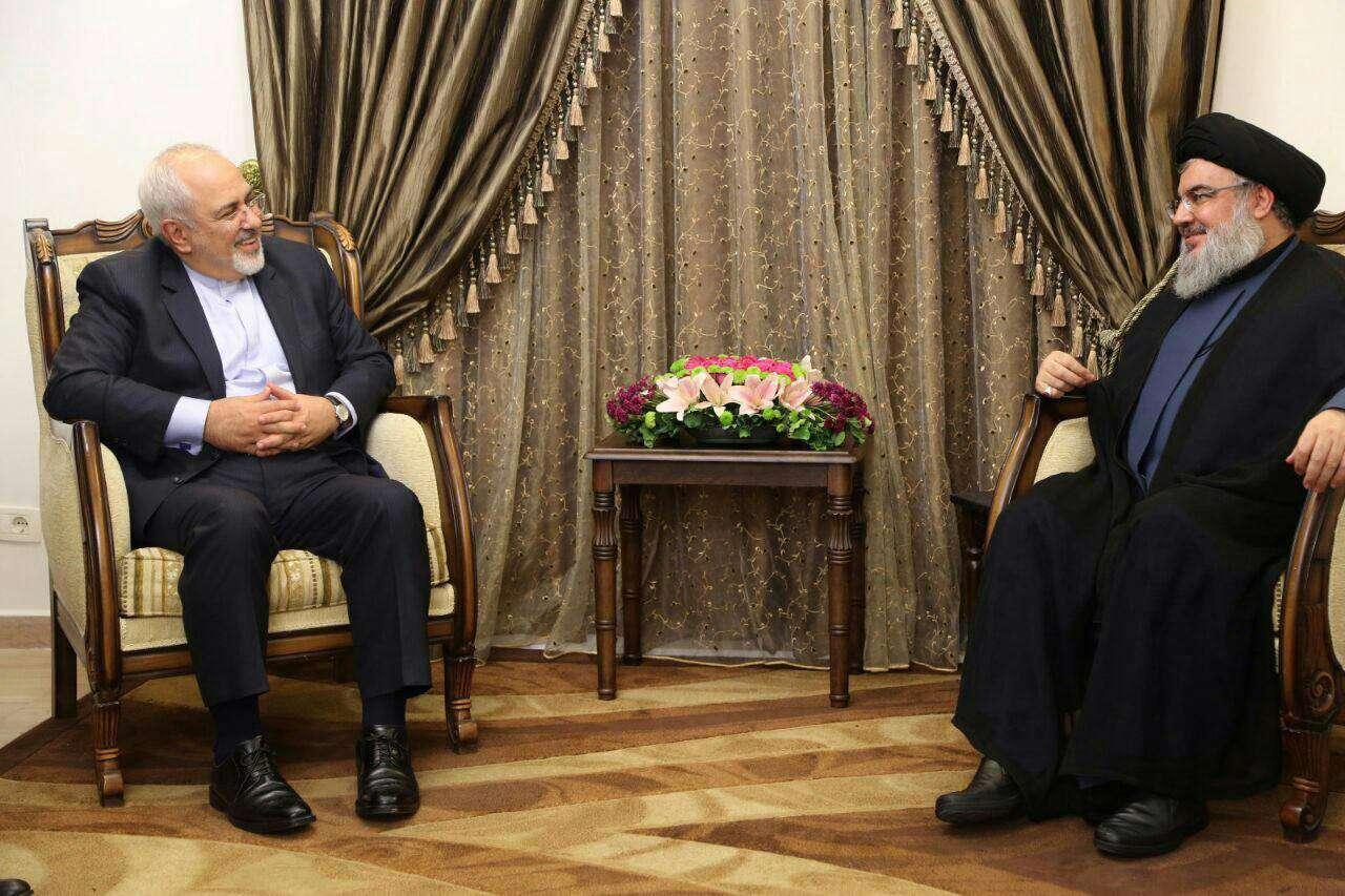 دیدار وزیرخارجه ایران با دبیرکل حزب الله لبنان