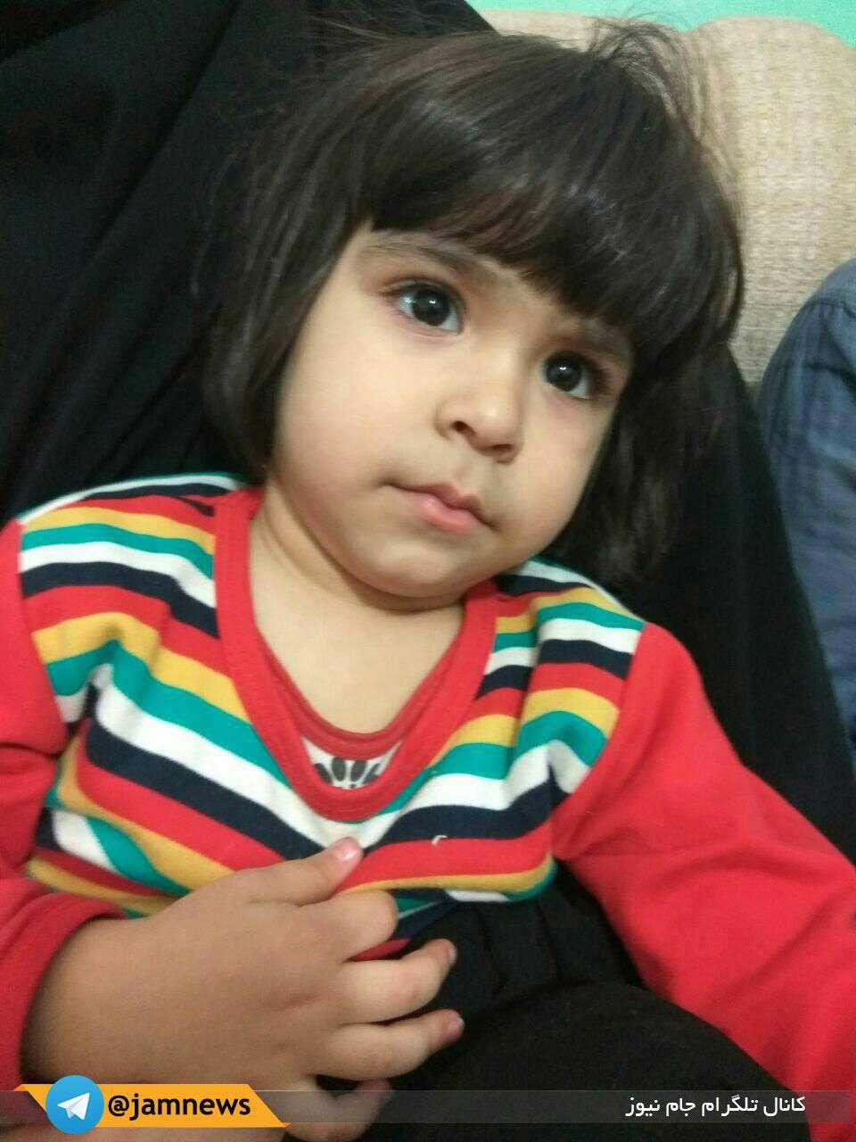 زینب خزایی دختر سه ساله شهید محسن خزایی، که عصر امروز در سوریه به شهادت رسید