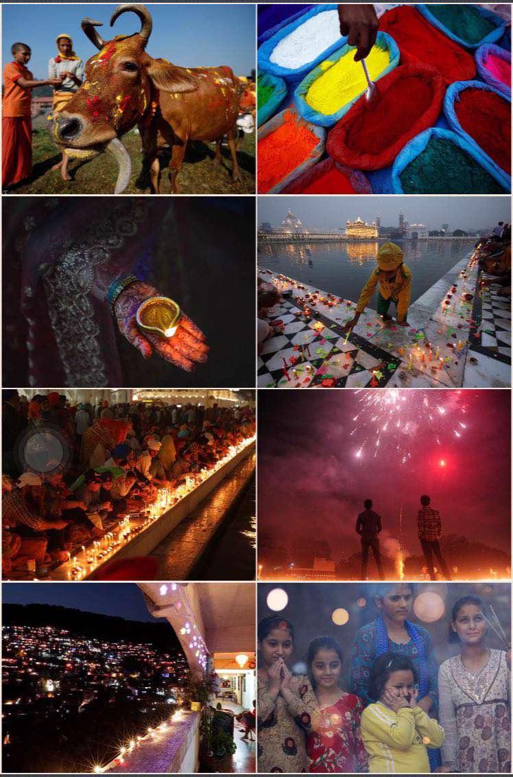 جشنواره ۵ روزه نور و رنگ در هند