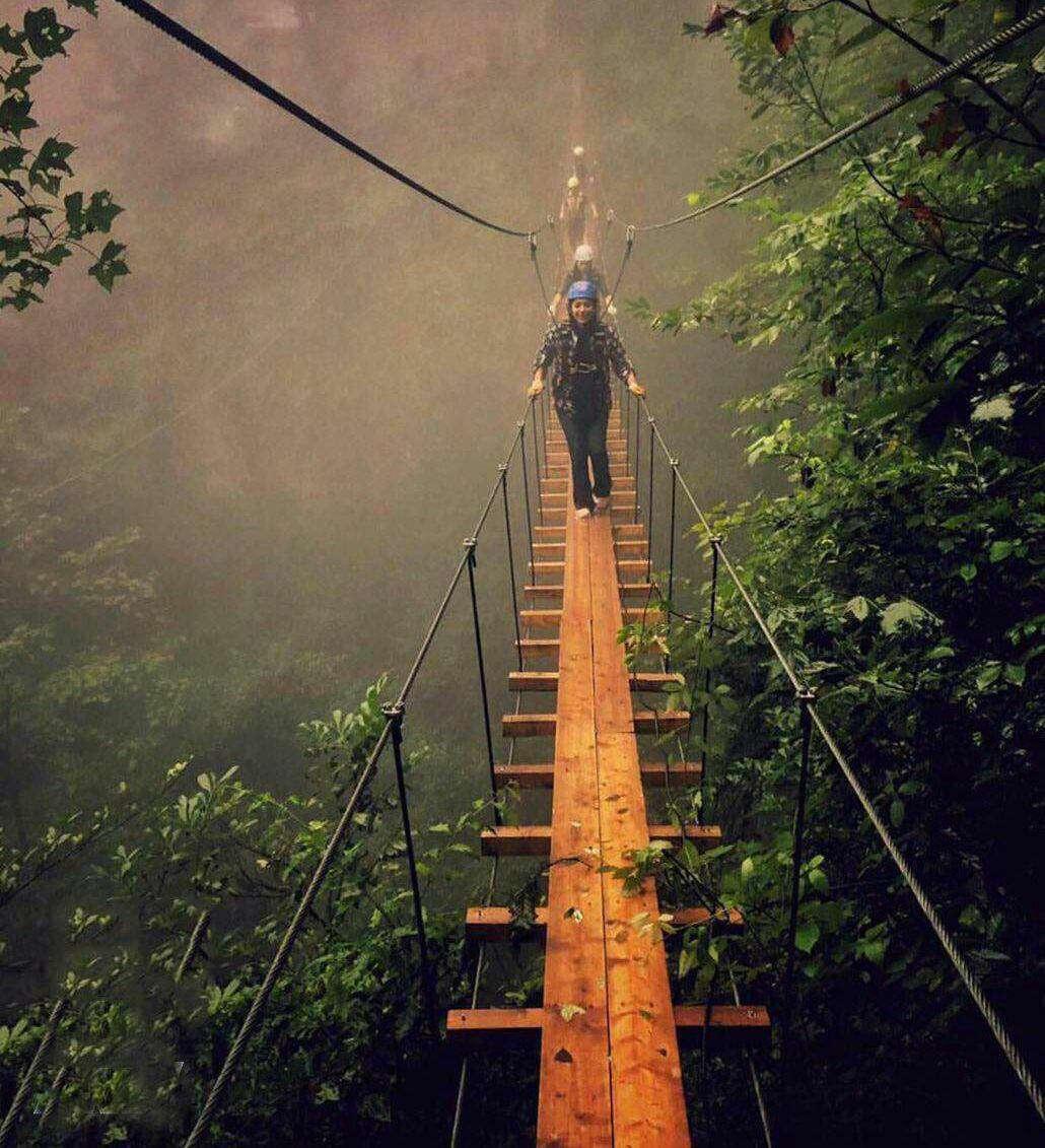 پل معلق بسیار زیبا، نمک آبرود، مازندران
