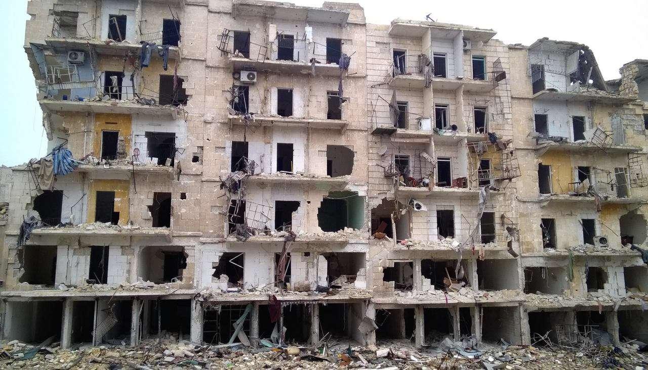 ساختمانی در شرق حلب - سوریه