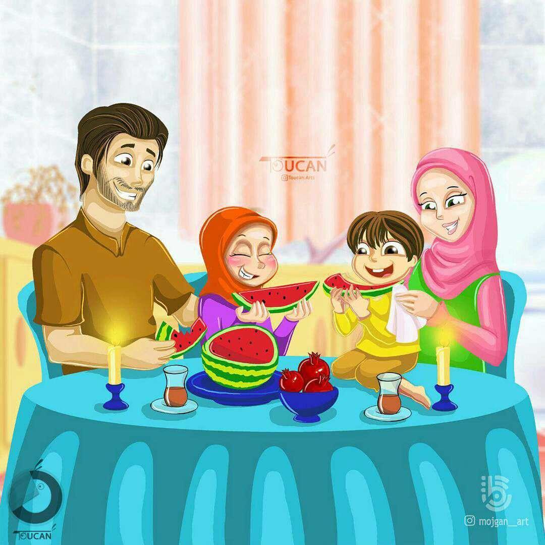 یلدا در کنار خانواده