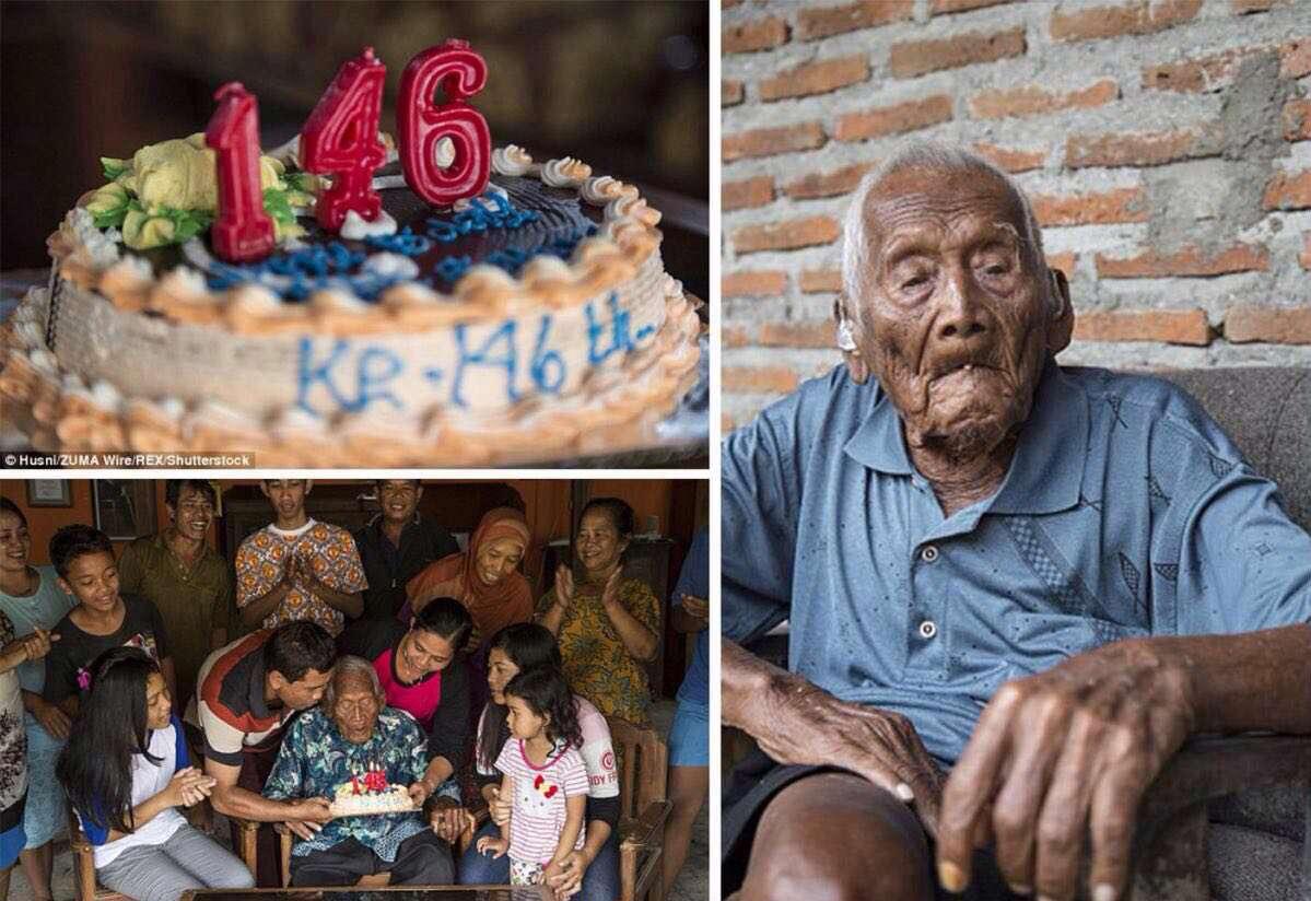 جشن تولد پیرترین انسان روی زمین