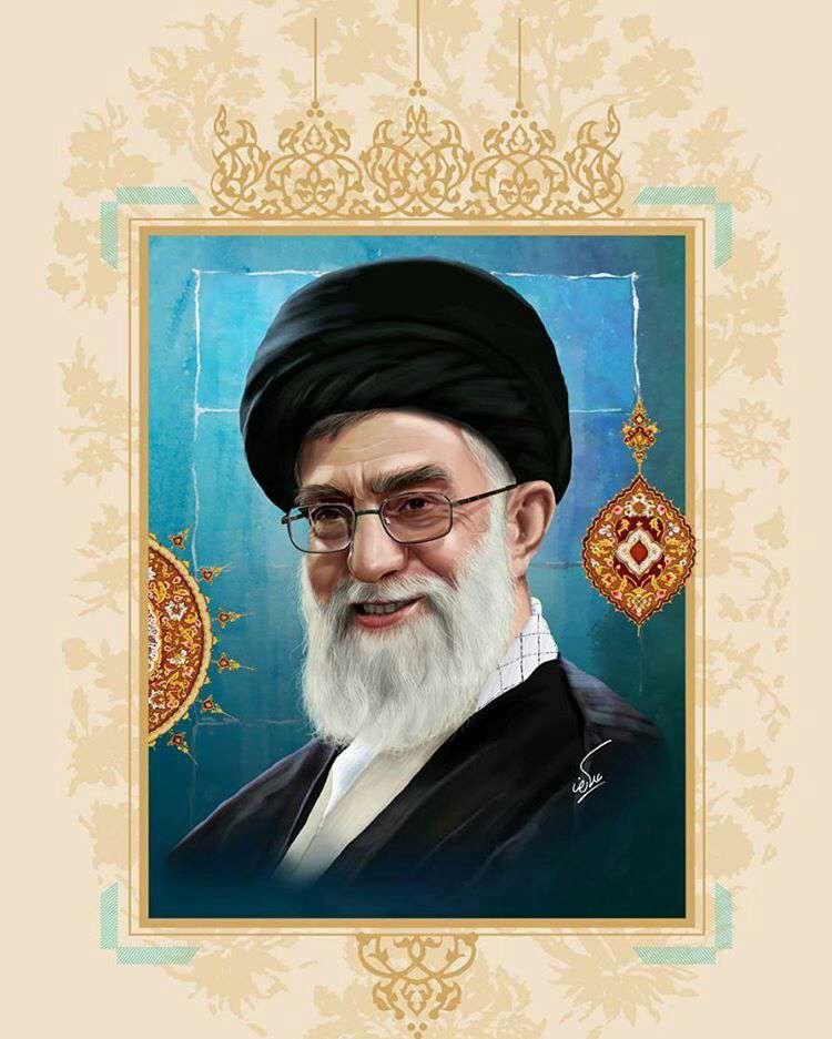 نقاشی چهره امام خامنهای