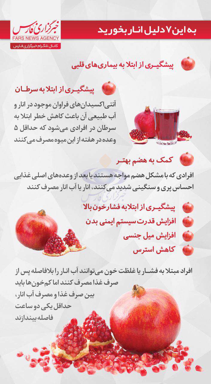 به این ۷ دلیل انار بخورید