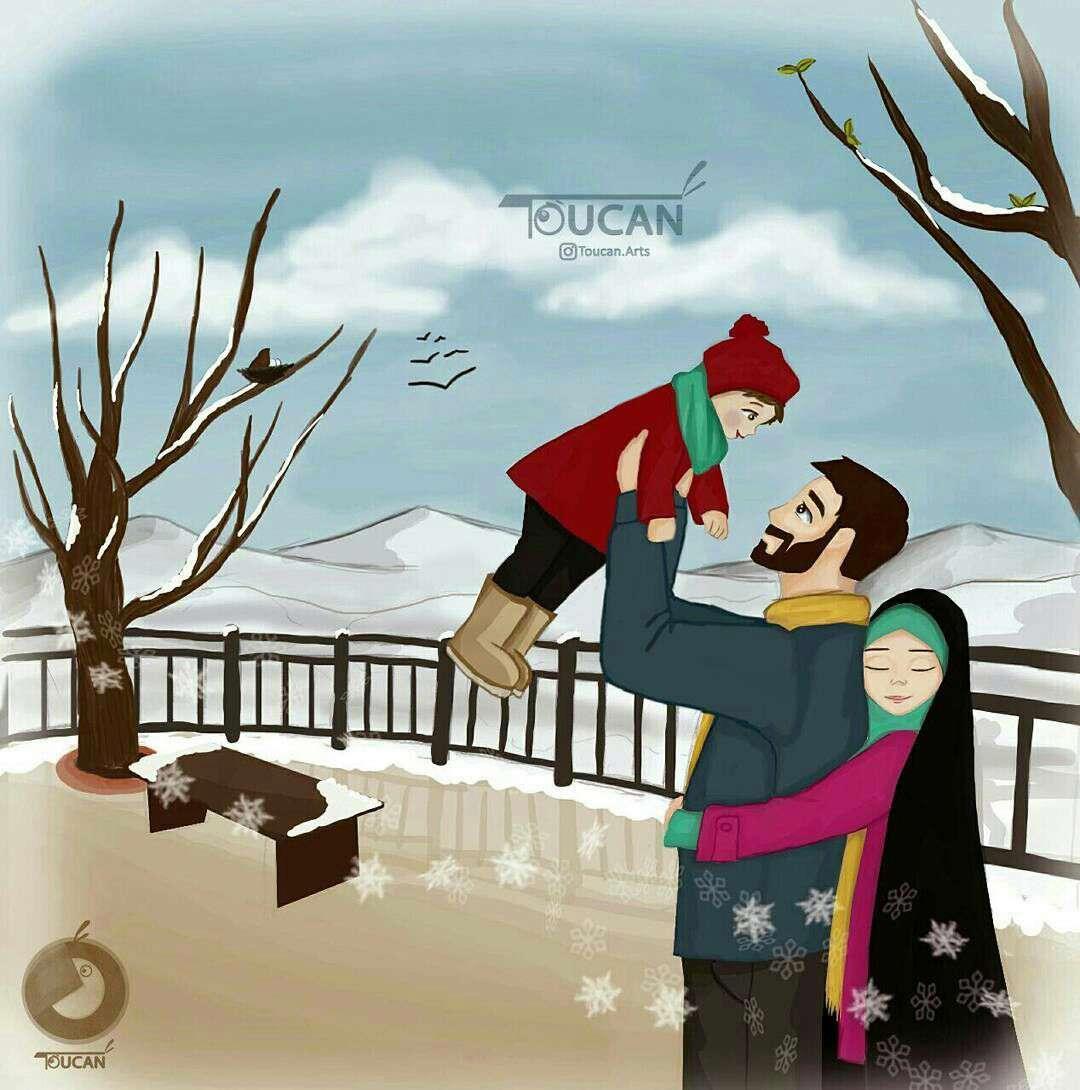 در زمستان گرمم از گرمای تو...