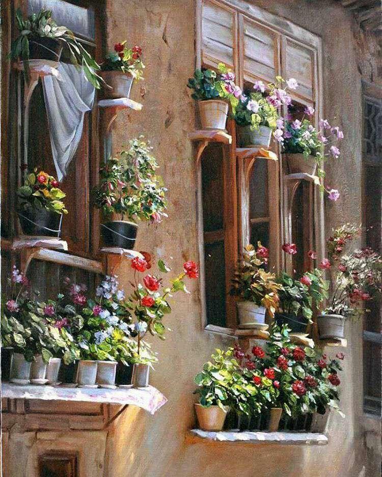 نقاشی زیبا از یک خانه روستایی