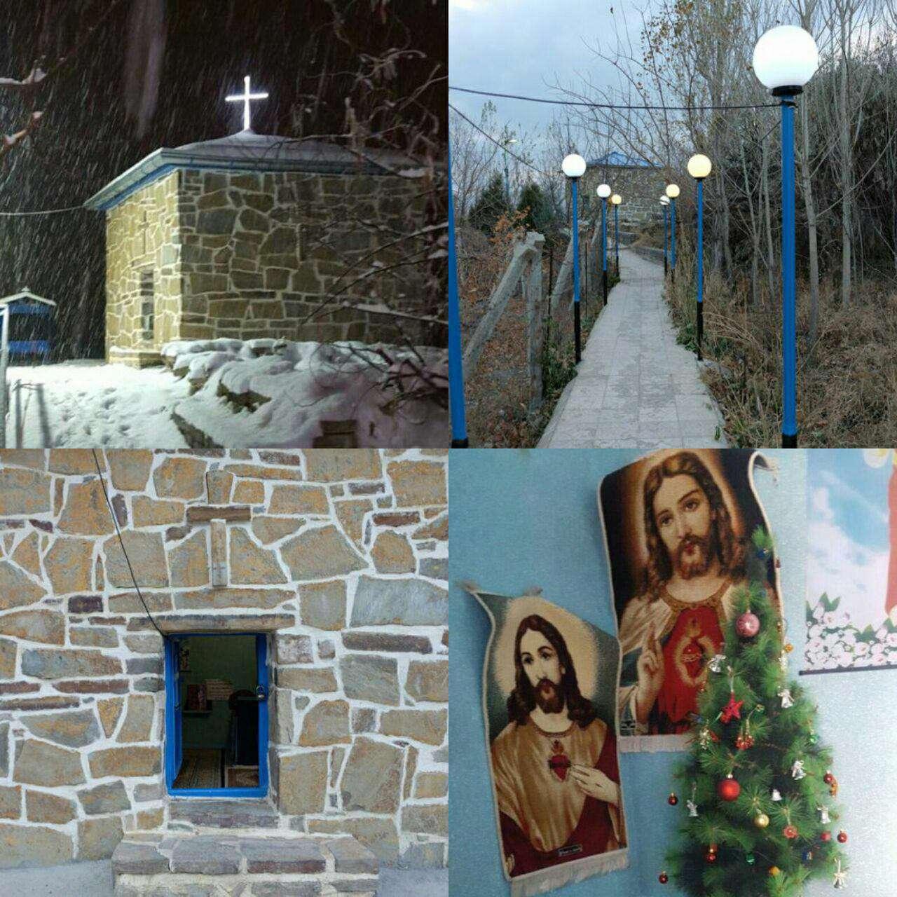 کلیسای «مریم مقدس» کوچکترین کلیسای ایران که در روستای «جانوسلو» در ارومیه قرار دارد