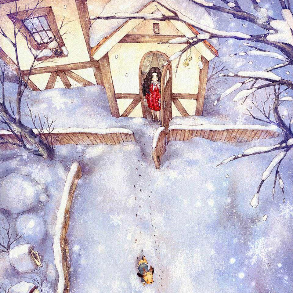 نقاشی از یک روز برفی