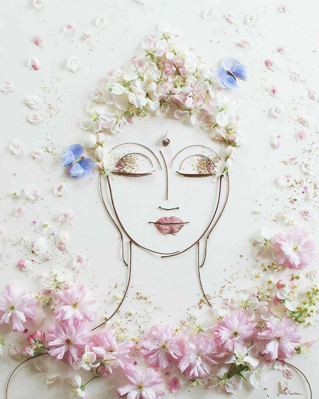 نقاشی با گل