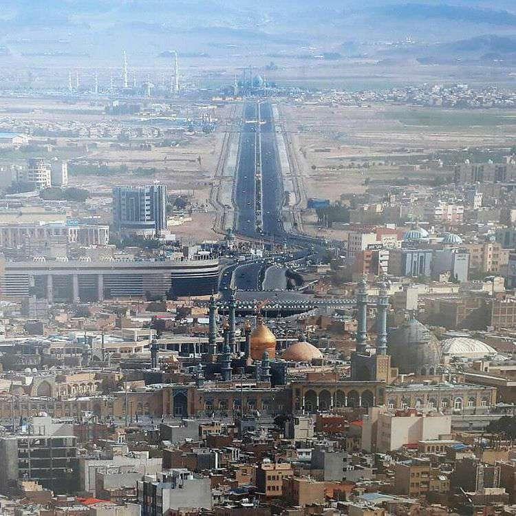 نمایی ویژه از مسیر حرم حضرت معصومه(س)تا مسجد جمکران