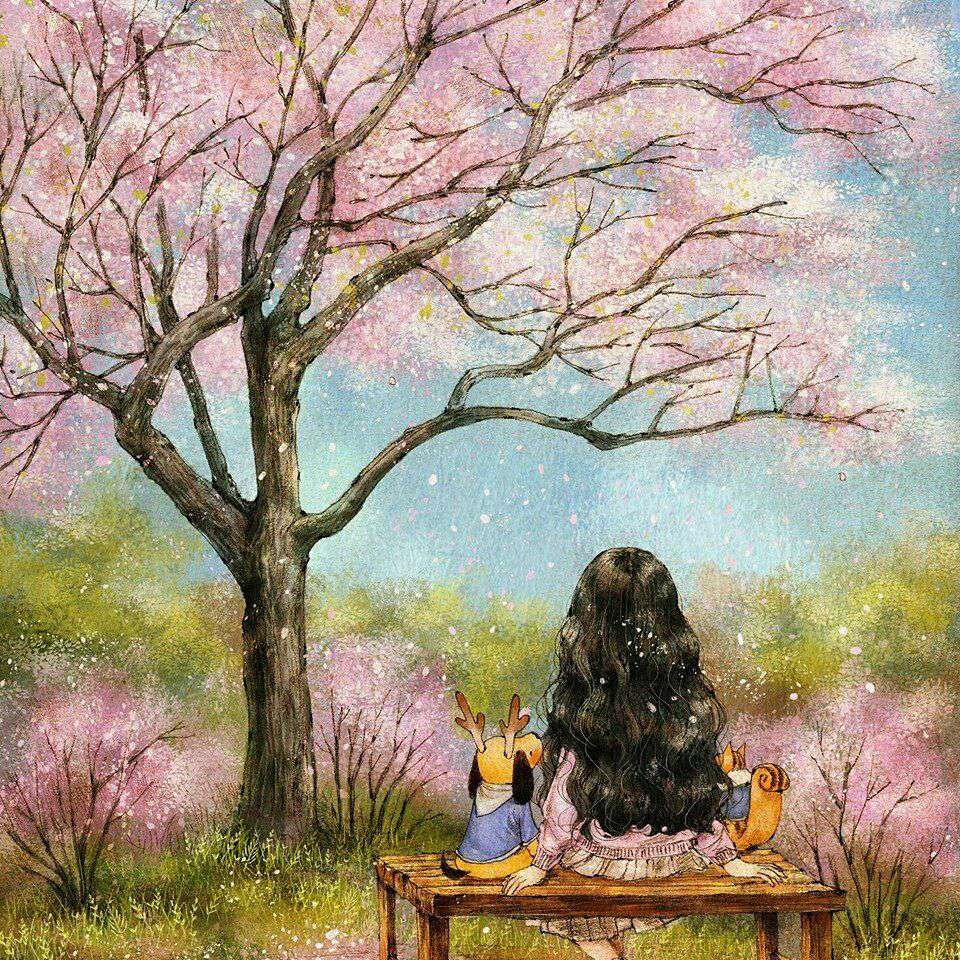 درختان بهاری پرشکوفه