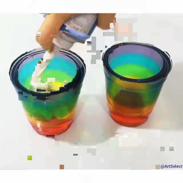 ظرف ژله ای رنگارنگ