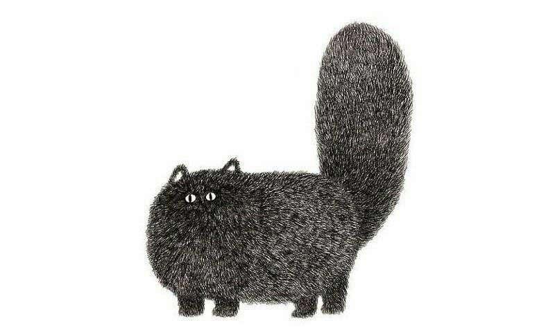 نقاشی از یک گربه