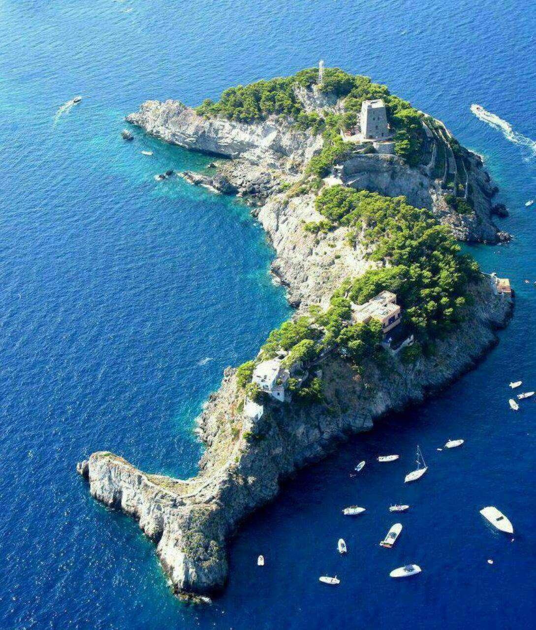 جزیره «لی گالی» در ایتالیا، که شبیه به دلفین است