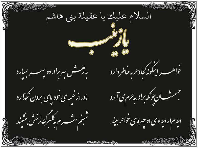 السلام علیک یا حضرت زینب