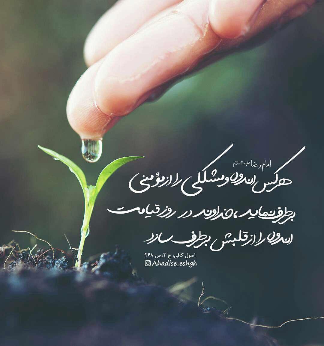 حدیثی از امام رضا در مورد اندوه و مشکل