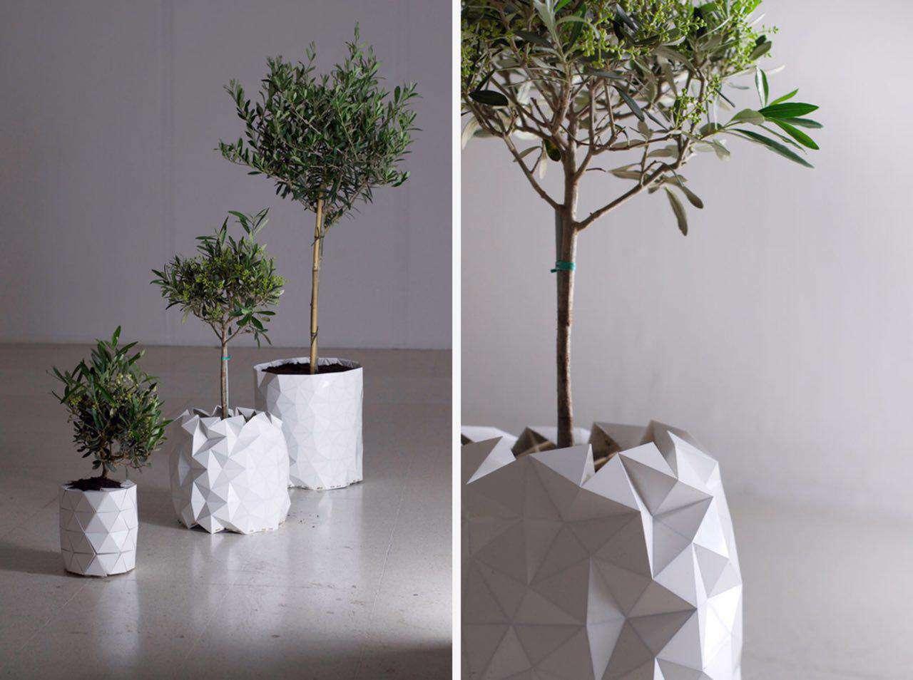 گلدانی که همراه با گیاه رشد میکند! در این گلدان از هنر اریگامی ژاپن الهام گرفته شده است و همراه با گیاه داخلش رشد و گسترش میابد...