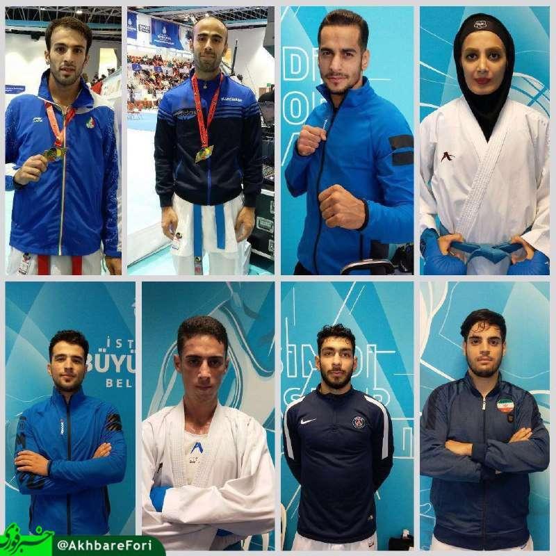 تیم ملی کاراته ایران با کسب ۴ مدال طلا٬ ۴ نقره و ۴ برنز پایان درخشانی در لیگ جهانی استانبول داشت