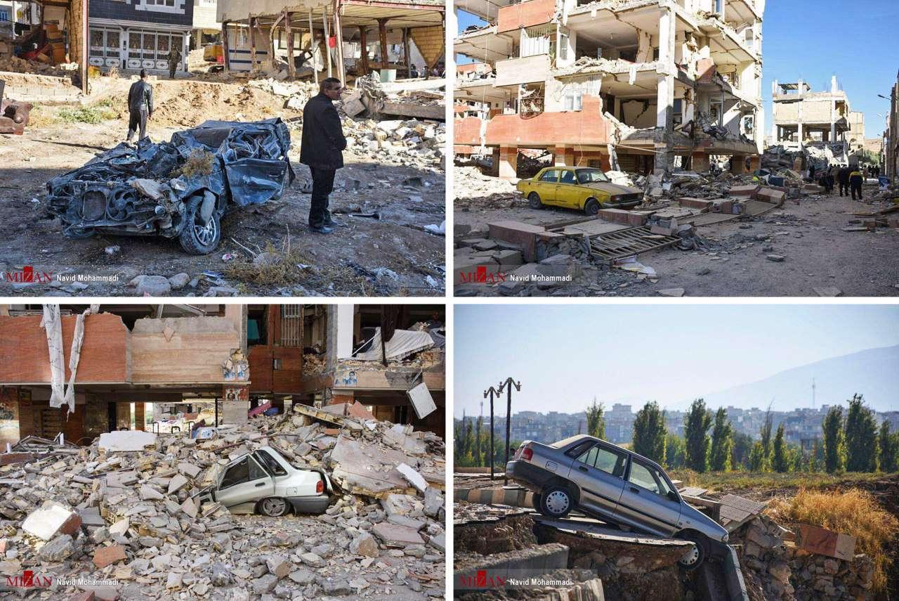 این خودروها در زلزله دیشب اینطوری شدن