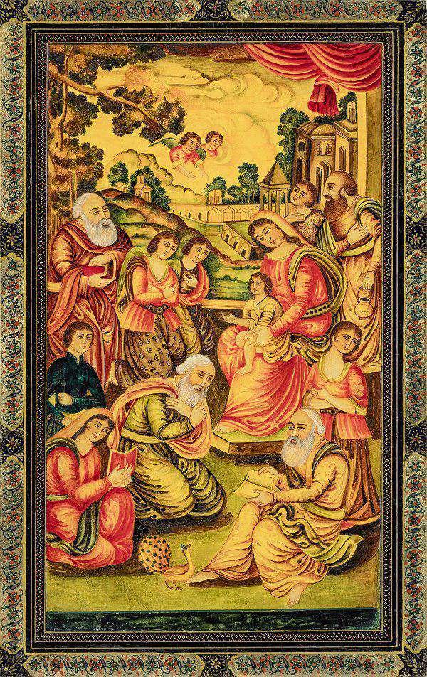 نگاره مریم و عیسی علیه  السلام ،مثنی سازی توسط عبدالرضا پروین