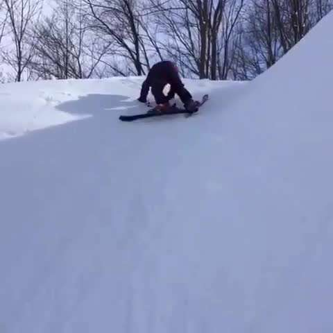 تصويرمتحرك اسكي در برف ناموفق