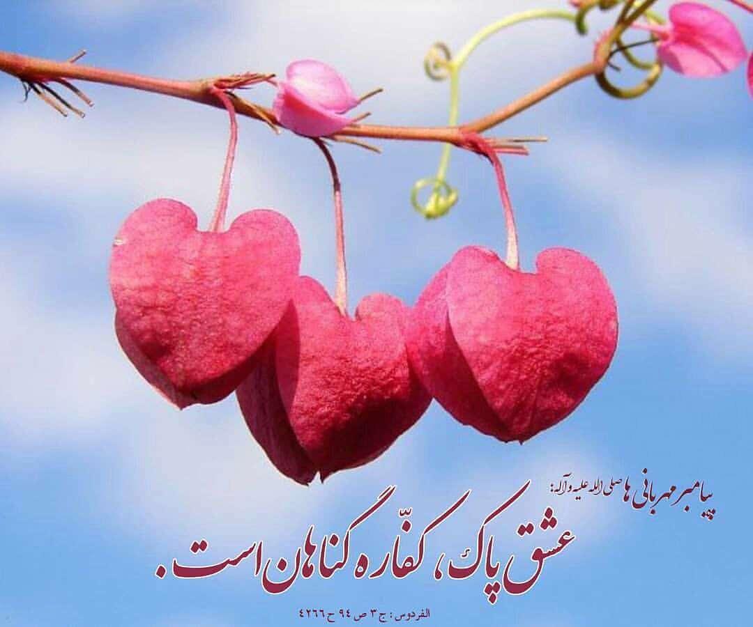 حدیثی ازپیامبر اکرم در مورد عشق پاک