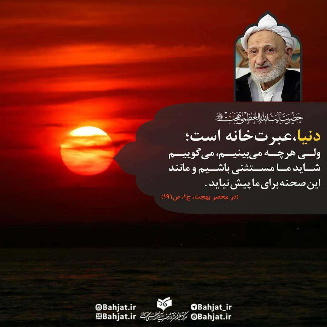 سخنی از ایت الله در مورد دنیا