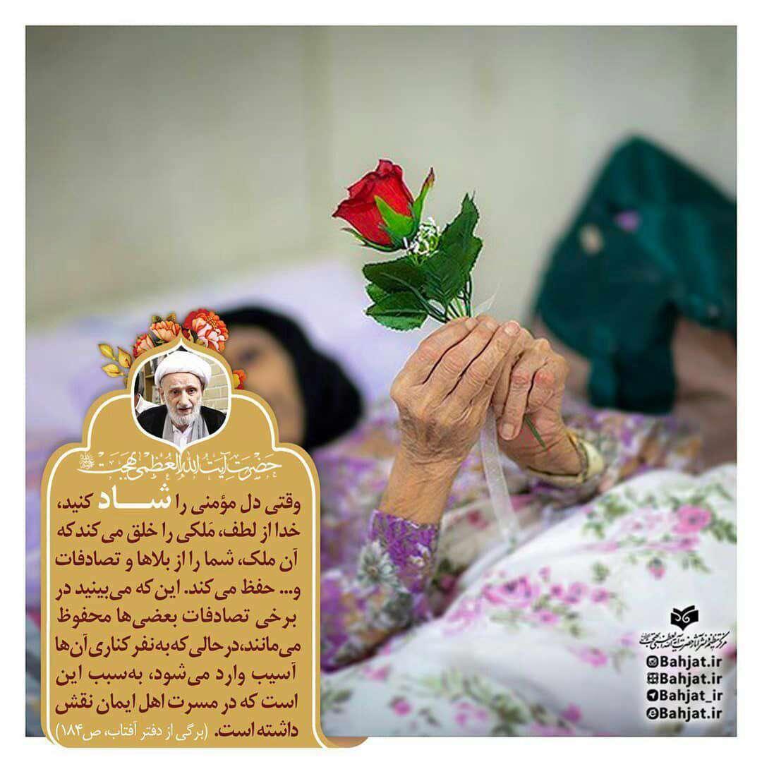 سخنی از ایت الله بهجت در مورد شادی