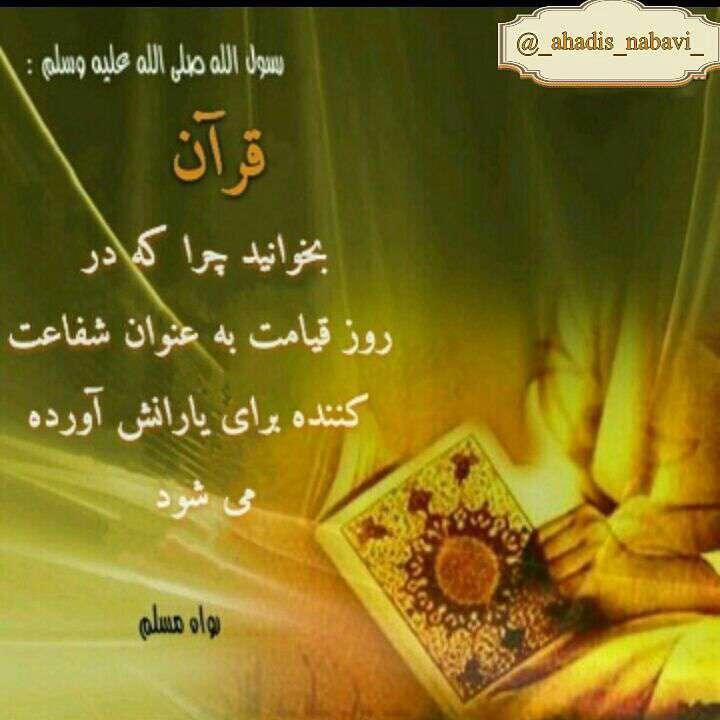 حدیثی از رسول اکرم در مورد قرآن