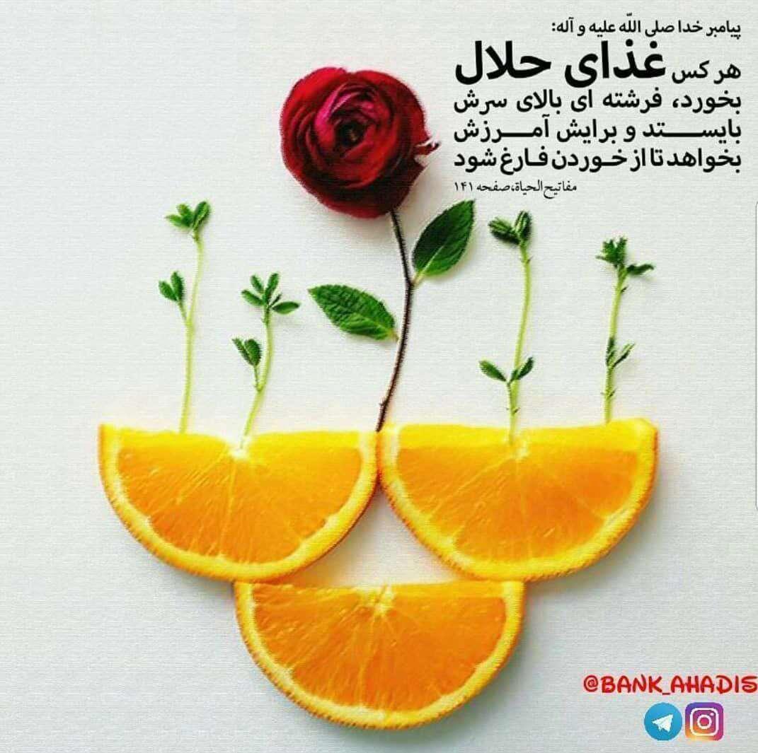 حدیثی از پیامبر اکرم در مورد غذای حلال