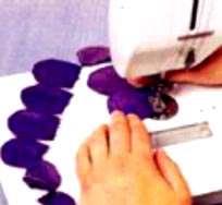 آموزش تصویری دوخت کوسن با گل برجسته