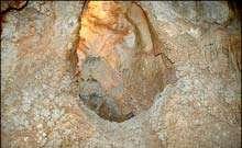 غار  چال نخجير  دليجان ؛ مجموعه اي زيبا از سنگ هاي مرجاني چند ميليون ساله