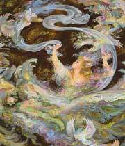 الفن الايراني من اجمل الفنون في العالم /لوحات رائعة