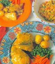 خوراک مرغ و آویشن