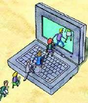 تصویری از یک رایانه