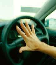 بوق زدن راننده