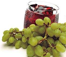 عصير العنب والعنب