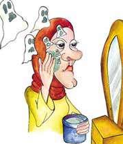 آرایش کردن صورت