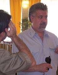 بهرام شفیع گزارشگر فوتبال و مجری  و تهیه کننده برنامه ورزش و مردم