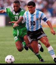 مارادونا به تنهایی نتیجه را  برای آرژانتین عوض می کرد