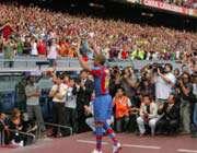 نخستین دیدار رسمی آنری با هواداران بارسا