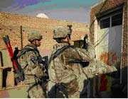 soldats d'occupation américains