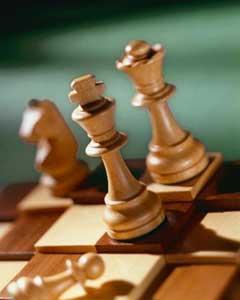 satranç ve kumar aletleri