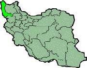carte montrant la province d'azarbayjan-e qarbi