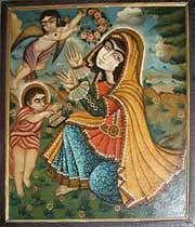 икона пресвятой богородицы в церкви  ванк