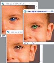 رنگیكردن چشمها در فتوشاپ