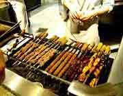 différentes sortes de kababs iraniens